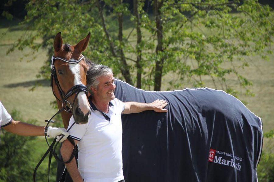 Donna Röschen mit Besitzer Gerhard Schröppel
