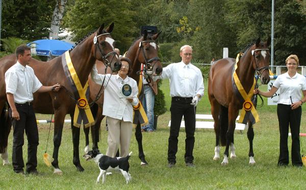 Kaiserflair v. Manrico mit den Töchtern Korona und Kujawe v Freudenfest LS BaWü 2005 Peter Richrterich